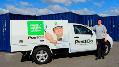 PestCo Service Technician Mike Wills provides customers with pest control services and Integrated Pest Management programmes.